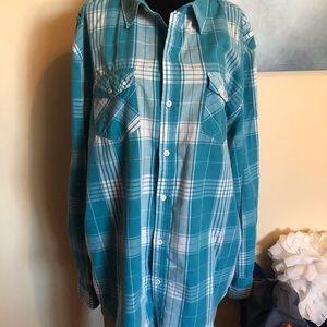 🌟2/$25🌟STRAIGHTFADED  plaid shirt